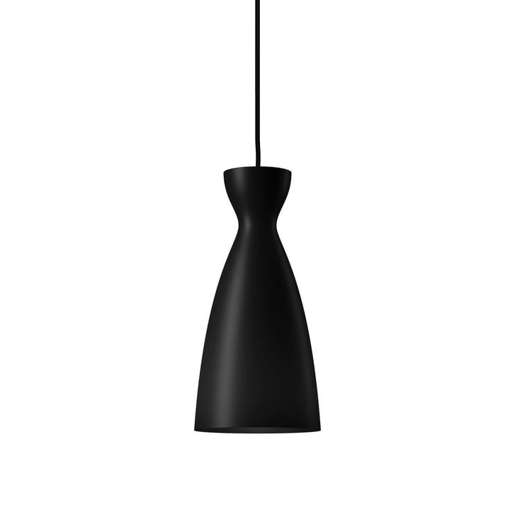 Pretty long Pendelleuchte, Ø 16,4 x H 33,7 cm in matt schwarz von Nyta