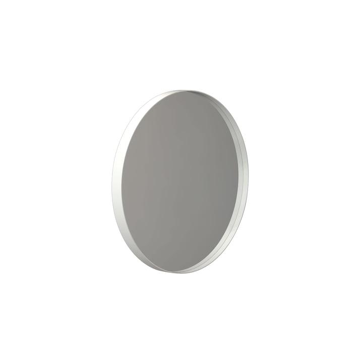 Runder Unu Wandspiegel 4134, Ø 40 cm in weiß von Frost