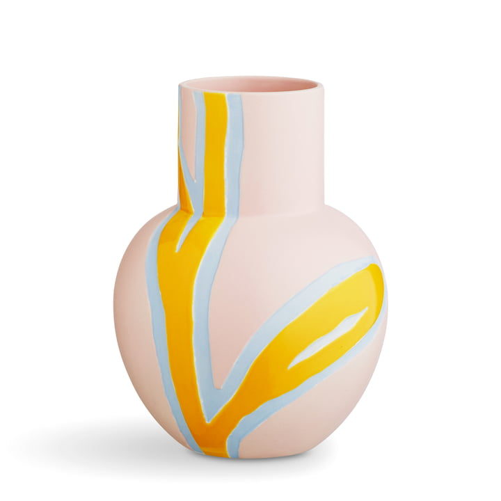Die Kähler Design - Fiora Vase H 25 cm, pink / gelb