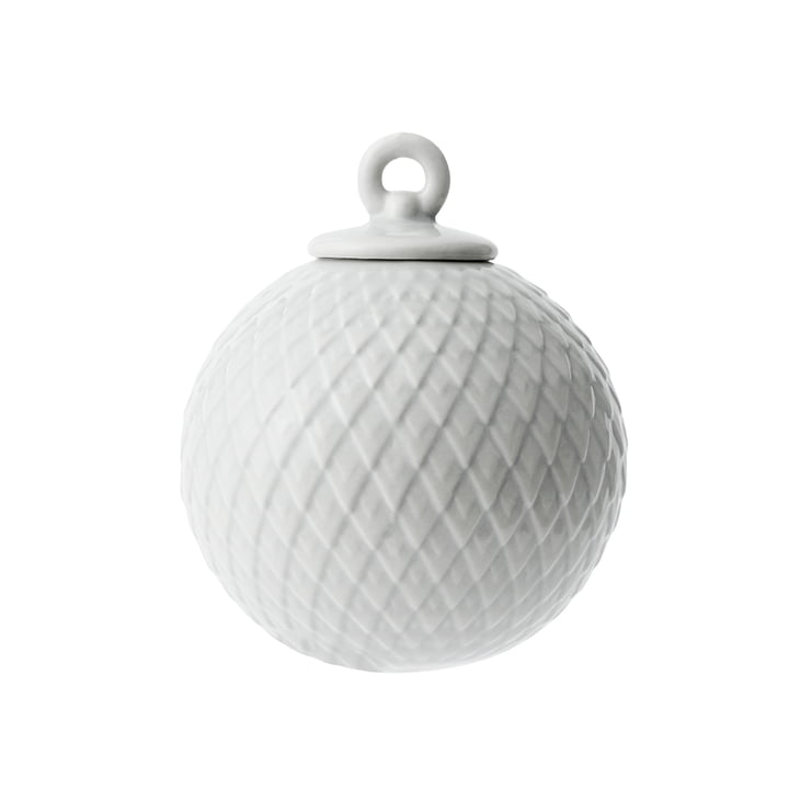 Rhombe Deko-Kugel in grau von Lyngby Porcelæn
