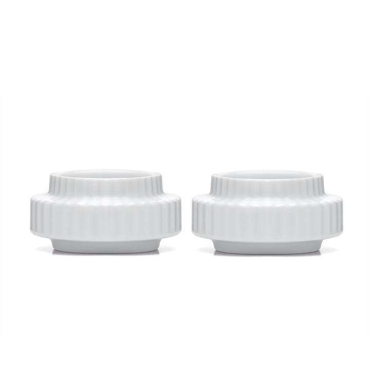 Teelichthalter Ø 6,5 cm in weiß (2er-Set) von Lyngby Porcelæn