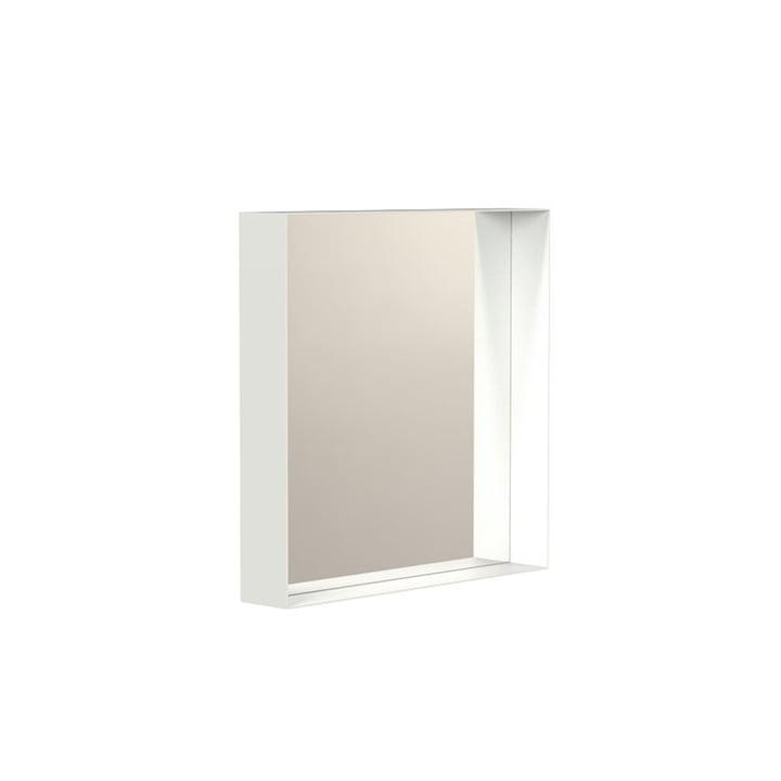 Unu Wandspiegel 4132 mit Rahmen, 40 x 40 cm, weiß von Frost