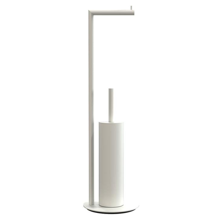 Nova 2 Toilettenpapierhalter und WC-Bürste freistehend in weiß von Frost