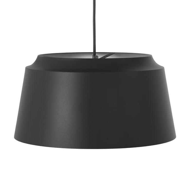 Groove Pendelleuchte von Puik, Ø 40 x H 20 cm in schwarz