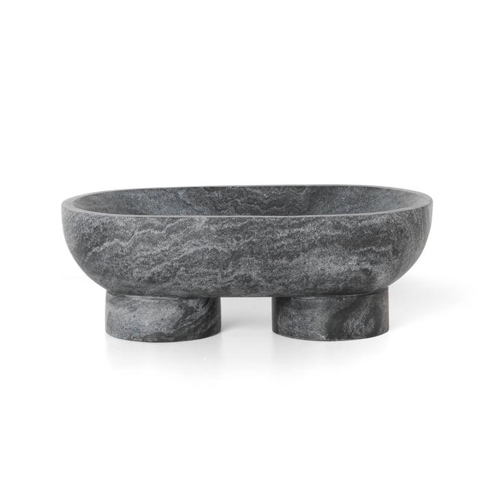 Alza Schale von ferm Living in Marmor schwarz