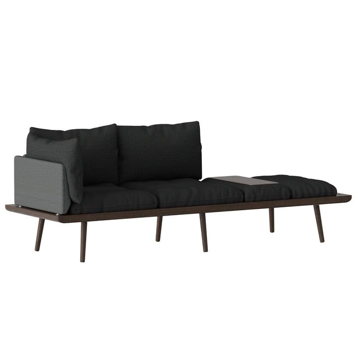 Lounge Around 3-Sitzer Sofa Eiche dunkel von Umage in slate grey / dark grey