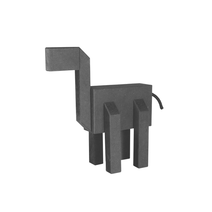 Connox Collection - Kubi Holzfigur, 20 cm / schwarz