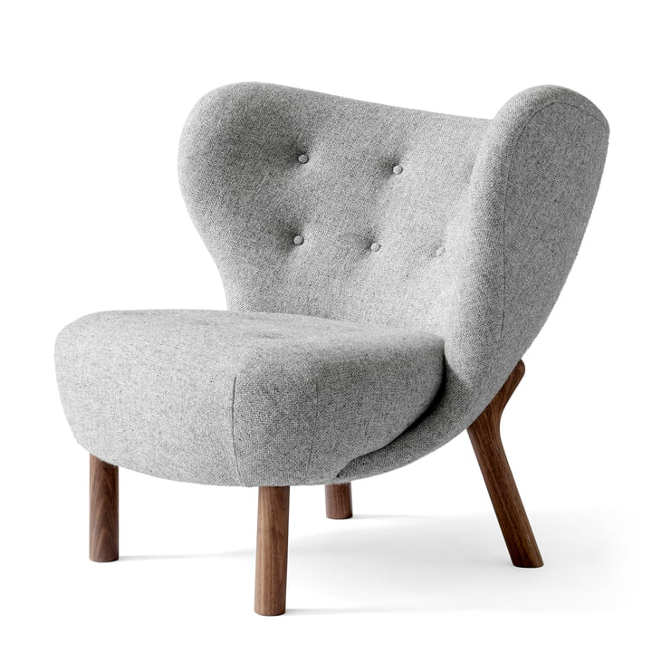 Little Petra Lounge Chair von &tradition in Wallnuss / Hallingdal 130