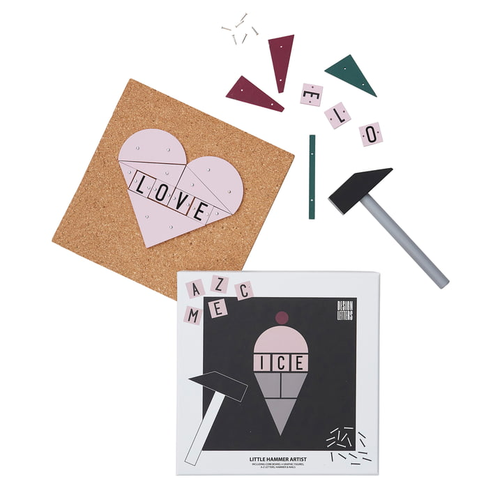 Hammer Artist Spielzeug Set von Design Letters in Eiscreme / Herz / Rose / Schmetterling