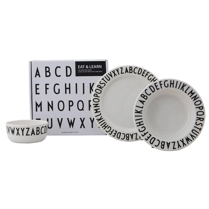 Melamingeschirr-Set Classic von Design Letters in weiß