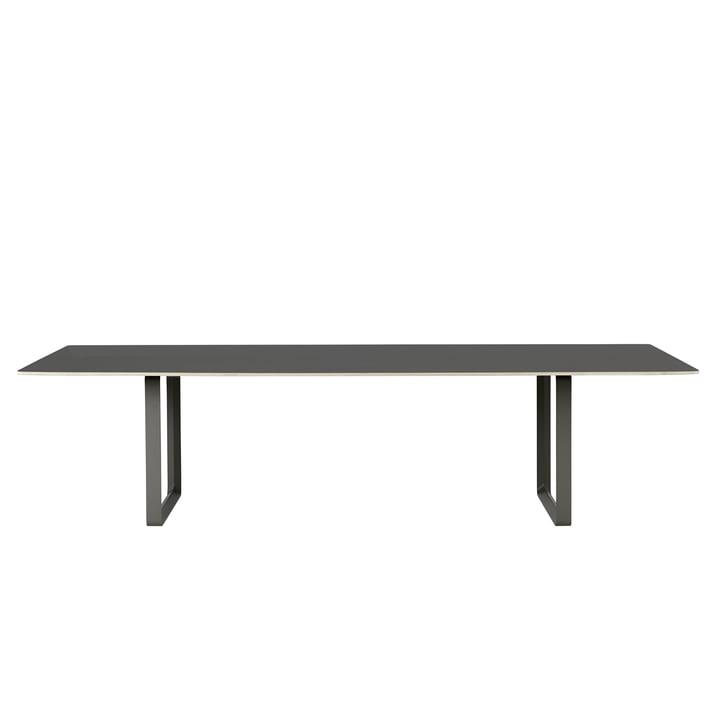 70/70 Esstisch 295 x 108 cm von Muuto in schwarz (Linoleum)