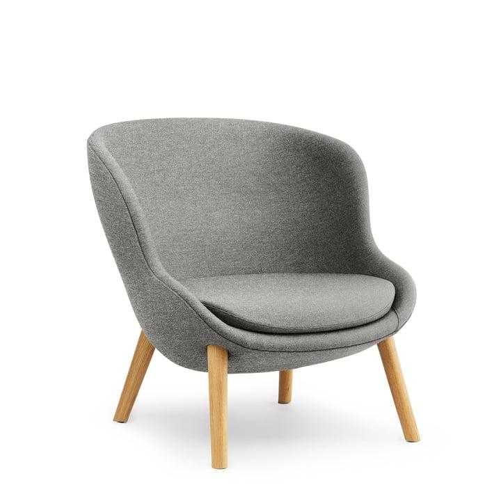 Hyg Lounge Chair Low von Normann Copenhagen - Eiche / grau (Flax MLF26)