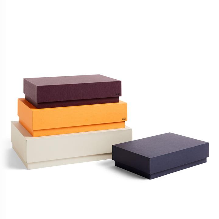 Box Box Desktop Pappschachteln von Hay in warm sand (4er-Set)