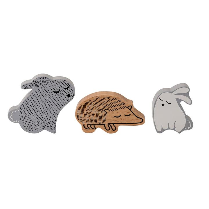 Mini Tierfiguren (3er-Set) von Bloomingville aus Buche
