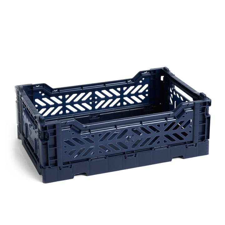 Colour Crate Korb S, 26,5 x 17 cm von Hay in navy