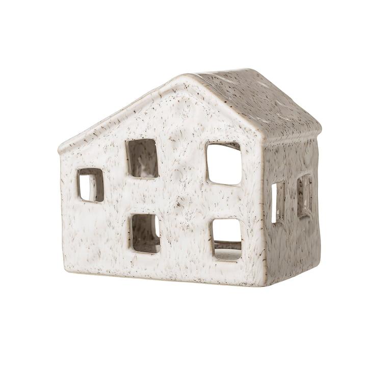 Windlicht Haus, 12 x 7,5 cm von Bloomingville in weiß
