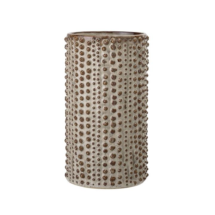 Noppen-Vase Ø 11 x H 20,5 cm von Bloomingville in natur