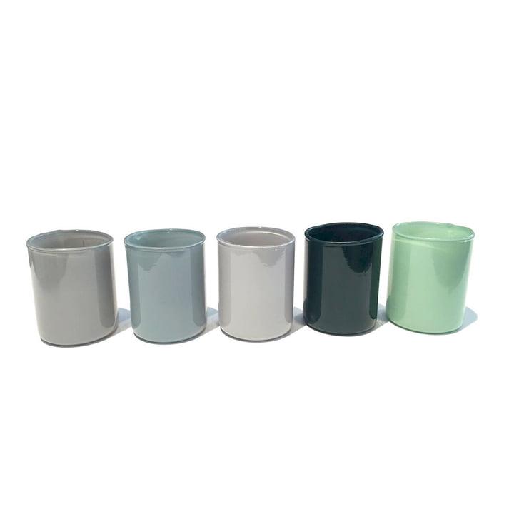 Spot Votive Teelichthalter im 5er-Set von Hay in grün