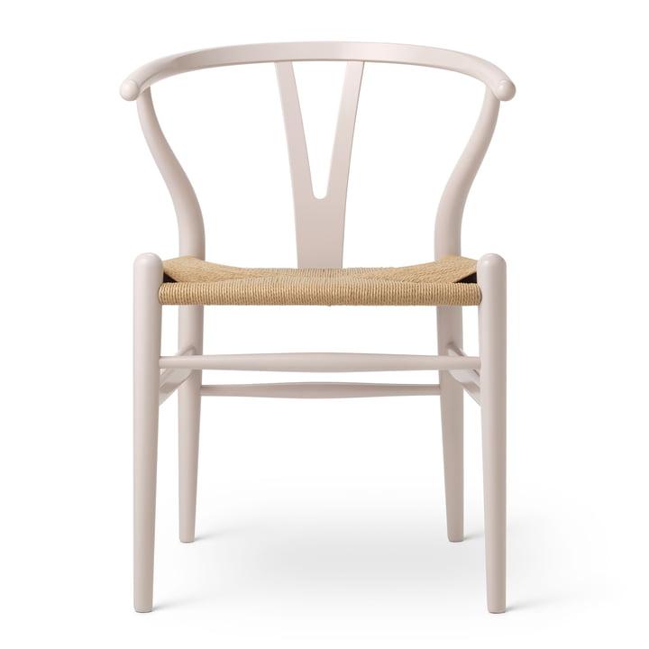 CH24 Wishbone Chair von Carl Hansen in Buche Rosy Blush / Naturgeflecht (Birthday Edition)