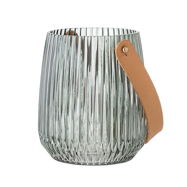 Glas-Laterne mit Tragegriff Ø 13 x H 15 cm von Bloomingville in grün