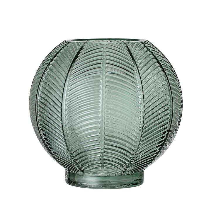 Glas-Vase von Bloomingville - Ø 20 x H 19 cm in grün