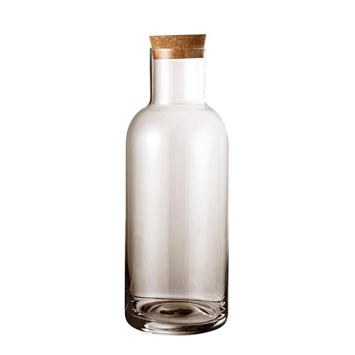 Glasflasche mit Korken Ø 9 x H 25 cm von Bloomingville in braun