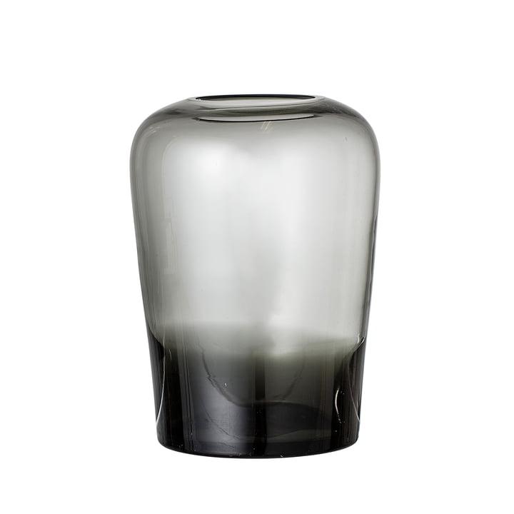 Glas-Vase von Bloomingville - Ø 13,5 x H 19 cm in grau