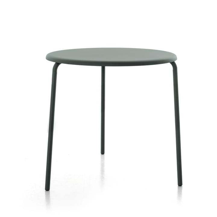 Alu Mito Outdoor Tisch, Ø 80 x H 74 cm von Conmoto in granitgrau