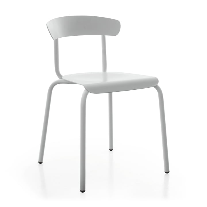 Alu Mito Outdoor Stuhl in lichtgrau von Conmoto