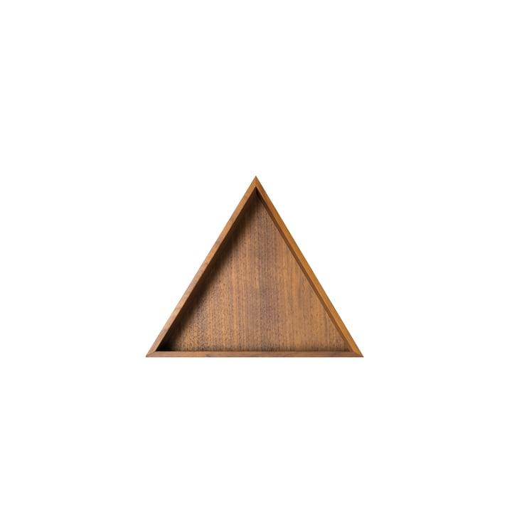 Karo Tablett, klein in Nussbaum von Conmoto