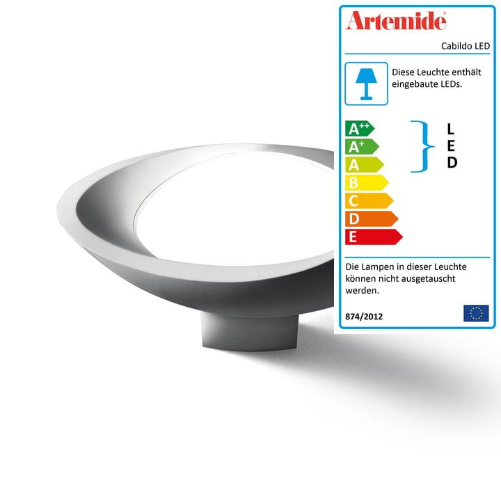 Cabildo LED-Wandleuchte von Artemide in weiß