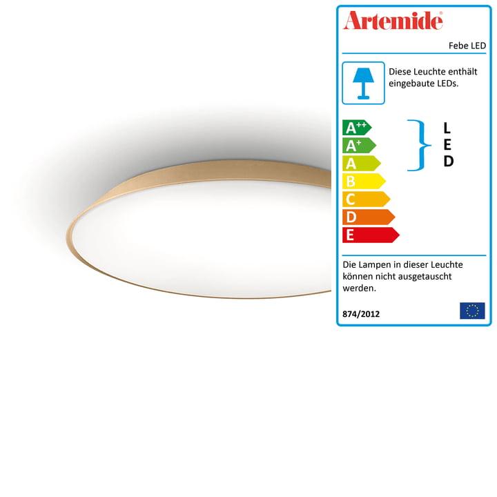 Febe LED-Wand- und Deckenleuchte von Artemide in dove grey