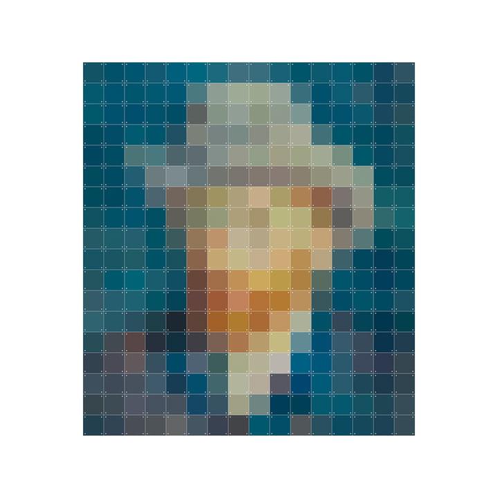 Van Gogh Petrol (Pixel) 160 x 180 cm von IXXI