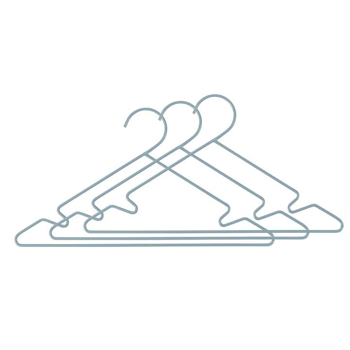 Metall Kinder-Kleiderbügel (3er-Set) von Sebra in hellblau