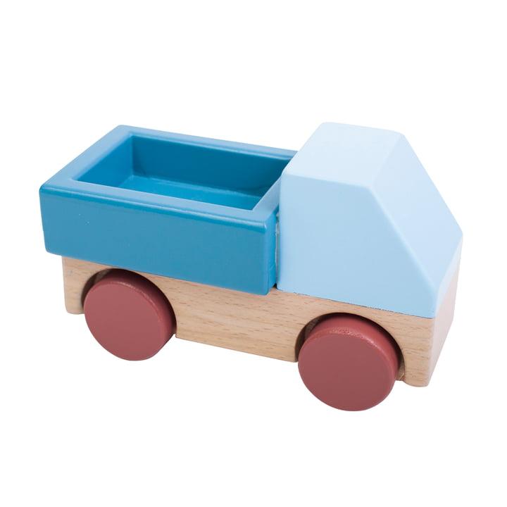 Lastwagen aus Holz von Sebra in blau
