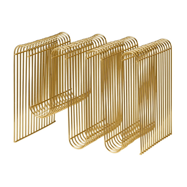 Curva Magazinhalter in gold von AYTM