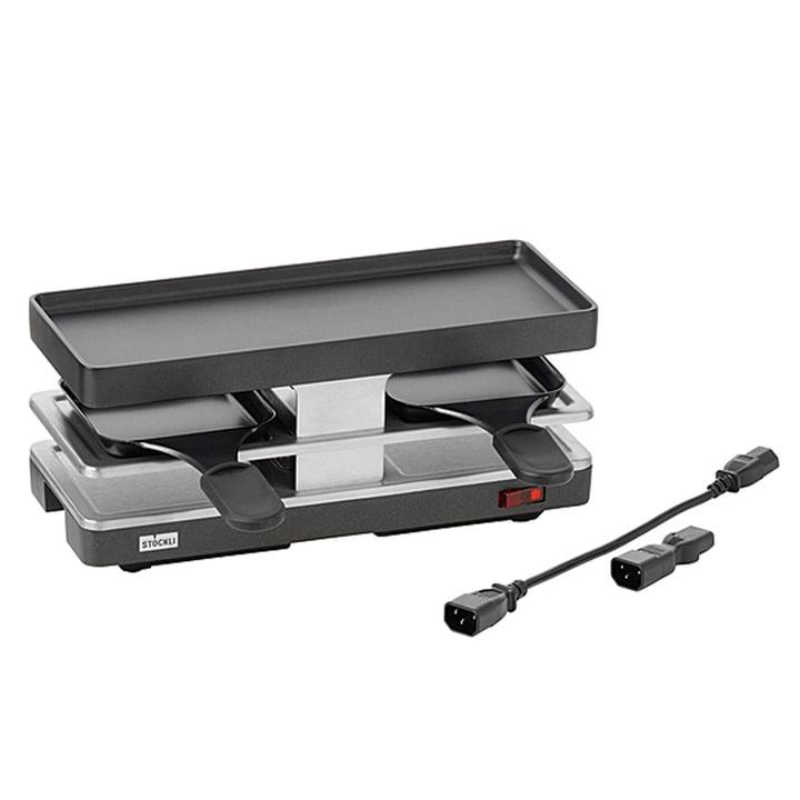 Raclette Twinboard Basisgerät von Stöckli in anthrazit