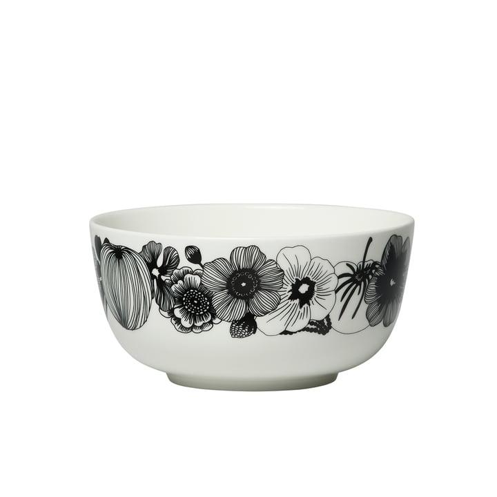 Oiva Siirtolapuutarha Schale 900 ml in weiß / schwarz von Marimekko