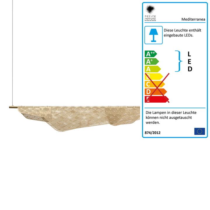 Mediterranea LED-Pendelleuchte von Petite Friture in Messing gebürstet