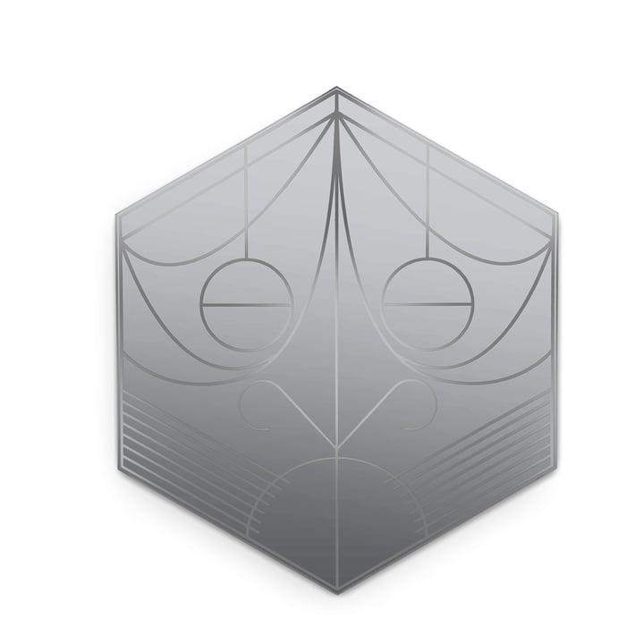 Mask Spiegel von Petite Friture, hexagon / lead