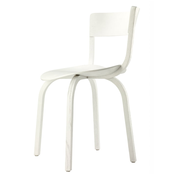 404 Stuhl von Thonet in Eiche weiß lasiert (TP 200)