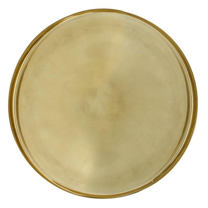 Tablett von Bloomingville, Ø 50 x H 2,5 cm in gold