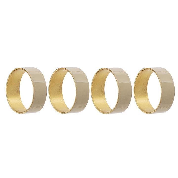 Serviettenring Metall von Bloomingville, Ø 4,5 x H 1,5 cm in gold (4er-Set)