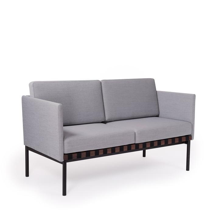 Grid Sofa mit Armlehnen von Petite Friture in Walnuss / Bezug: Steelcut Trio 2 (133)