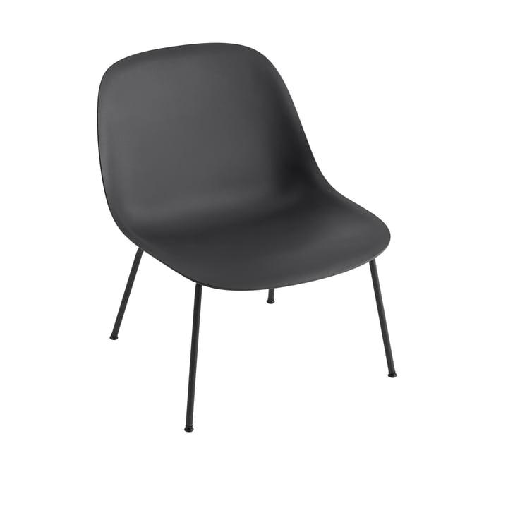 Fiber Lounge ChairTube Base in schwarz von Muuto