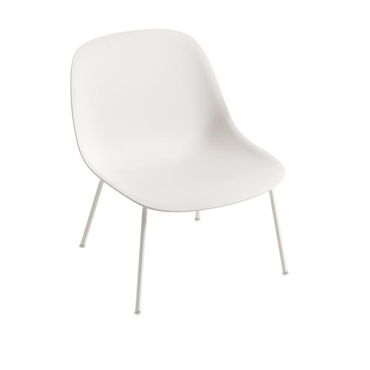 Fiber Lounge ChairTube Base in weiß von Muuto