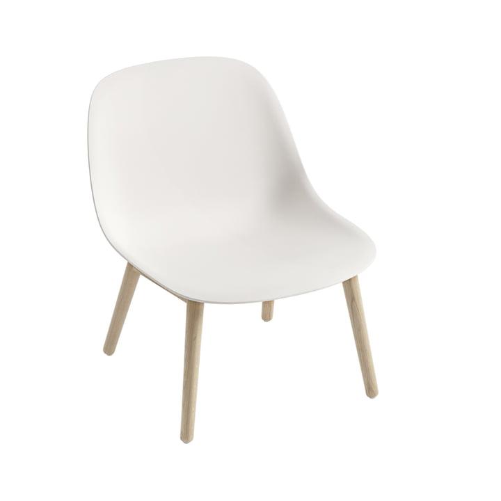 Fiber Lounge ChairWood Base in Eiche / weiß von Muuto