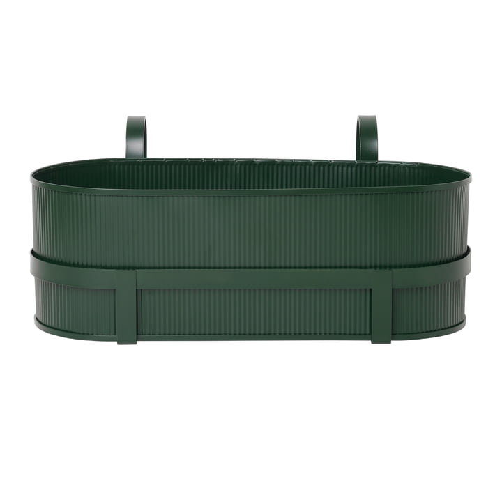 Bau Balcony Box von ferm Living in dunkelgrün