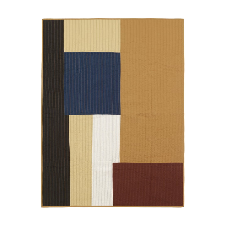 Shay Patchwork Steppdecke von ferm Living in senf
