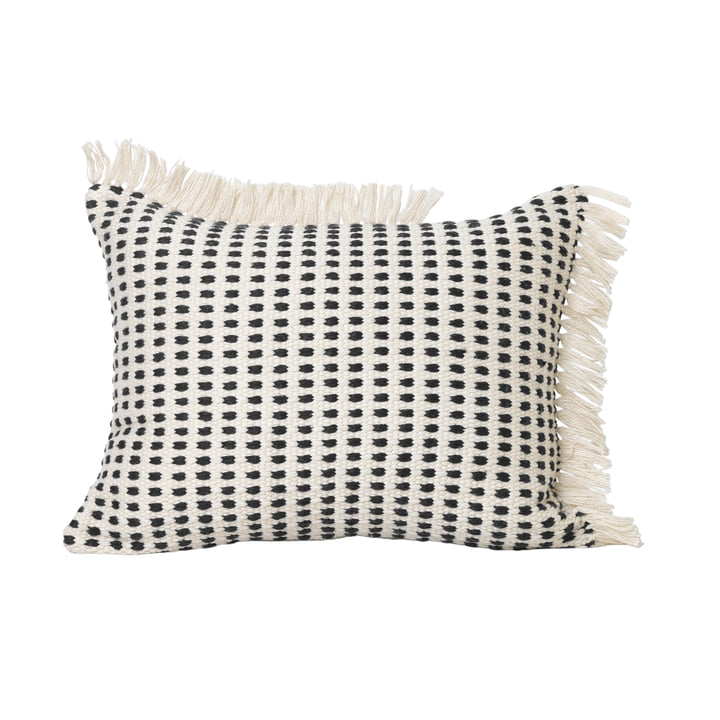 Way Outdoor Kissen, 70 x 50 cm in off-white / blau von ferm Living